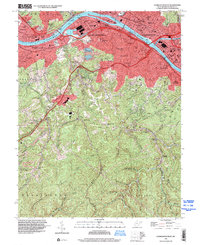 Download a high-resolution, GPS-compatible USGS topo map for Charleston West, WV (2000 edition)