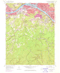 Download a high-resolution, GPS-compatible USGS topo map for Charleston West, WV (1973 edition)
