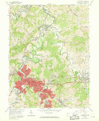 Download a high-resolution, GPS-compatible USGS topo map for Clarksburg, WV (1969 edition)