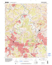 Download a high-resolution, GPS-compatible USGS topo map for Clarksburg, WV (2001 edition)