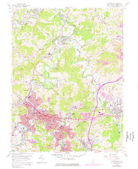 Download a high-resolution, GPS-compatible USGS topo map for Clarksburg, WV (1977 edition)
