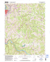 Download a high-resolution, GPS-compatible USGS topo map for Fairmont East, WV (2000 edition)