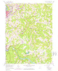 Download a high-resolution, GPS-compatible USGS topo map for Fairmont East, WV (1977 edition)