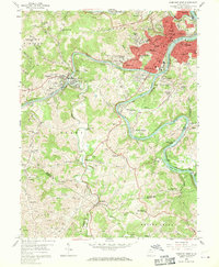 Download a high-resolution, GPS-compatible USGS topo map for Fairmont West, WV (1970 edition)