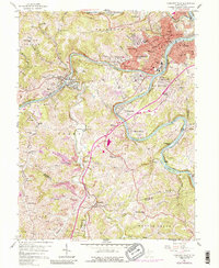 Download a high-resolution, GPS-compatible USGS topo map for Fairmont West, WV (1988 edition)