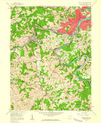 Download a high-resolution, GPS-compatible USGS topo map for Fairmont West, WV (1960 edition)