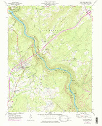 Download a high-resolution, GPS-compatible USGS topo map for Fayetteville, WV (1984 edition)