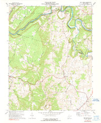 Download a high-resolution, GPS-compatible USGS topo map for Fort Spring, WV (1990 edition)