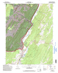Download a high-resolution, GPS-compatible USGS topo map for Franklin, WV (1998 edition)