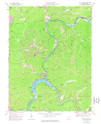 Download a high-resolution, GPS-compatible USGS topo map for Gauley Bridge, WV (1977 edition)