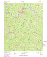 Download a high-resolution, GPS-compatible USGS topo map for Gilbert, WV (1991 edition)