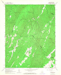Download a high-resolution, GPS-compatible USGS topo map for Glace, WV (1968 edition)