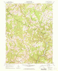 Download a high-resolution, GPS-compatible USGS topo map for Gladesville, WV (1970 edition)