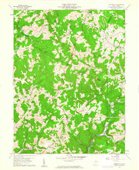 Download a high-resolution, GPS-compatible USGS topo map for Gladesville, WV (1961 edition)