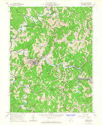 Download a high-resolution, GPS-compatible USGS topo map for Glenville, WV (1967 edition)