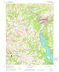 Download a high-resolution, GPS-compatible USGS topo map for Grafton, WV (1977 edition)
