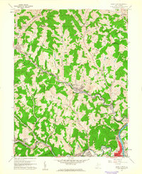 Download a high-resolution, GPS-compatible USGS topo map for Grant Town, WV (1961 edition)