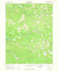 Download a high-resolution, GPS-compatible USGS topo map for Hacker Valley, WV (1968 edition)