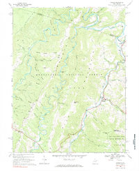 Download a high-resolution, GPS-compatible USGS topo map for Harman, WV (1984 edition)