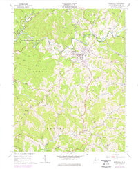 Download a high-resolution, GPS-compatible USGS topo map for Harrisville, WV (1977 edition)
