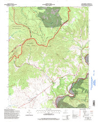 Download a high-resolution, GPS-compatible USGS topo map for Hillsboro, WV (1998 edition)
