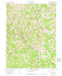 Download a high-resolution, GPS-compatible USGS topo map for Hundred, WV (1977 edition)