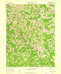 Download a high-resolution, GPS-compatible USGS topo map for Hundred, WV (1960 edition)