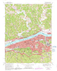 Download a high-resolution, GPS-compatible USGS topo map for Huntington, WV (1991 edition)
