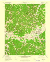 Download a high-resolution, GPS-compatible USGS topo map for Hurricane, WV (1960 edition)