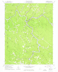 Download a high-resolution, GPS-compatible USGS topo map for Iaeger, WV (1976 edition)