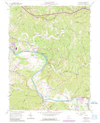 Download a high-resolution, GPS-compatible USGS topo map for Kanawha, WV (1989 edition)