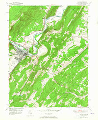 Download a high-resolution, GPS-compatible USGS topo map for Keyser, WV (1965 edition)