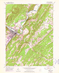 Download a high-resolution, GPS-compatible USGS topo map for Keyser, WV (1976 edition)