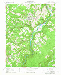 Download a high-resolution, GPS-compatible USGS topo map for Kingwood, WV (1966 edition)