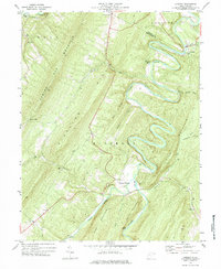 Download a high-resolution, GPS-compatible USGS topo map for Largent, WV (1984 edition)