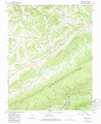Download a high-resolution, GPS-compatible USGS topo map for Lindside, WV (1985 edition)