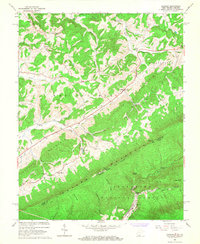 Download a high-resolution, GPS-compatible USGS topo map for Lindside, WV (1967 edition)