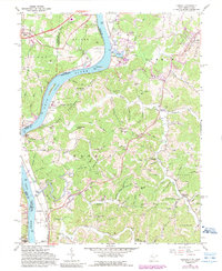 Download a high-resolution, GPS-compatible USGS topo map for Lubeck, WV (1989 edition)