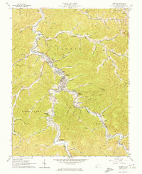 Download a high-resolution, GPS-compatible USGS topo map for Madison, WV (1974 edition)