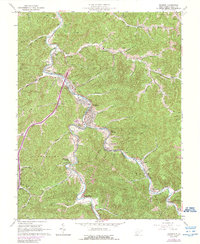 Download a high-resolution, GPS-compatible USGS topo map for Madison, WV (1989 edition)