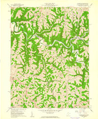 Download a high-resolution, GPS-compatible USGS topo map for Majorsville, WV (1961 edition)