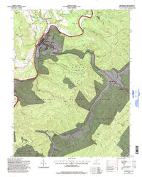 Download a high-resolution, GPS-compatible USGS topo map for Marlinton, WV (1998 edition)