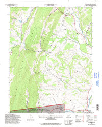 Download a high-resolution, GPS-compatible USGS topo map for Maysville, WV (1998 edition)
