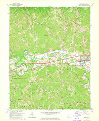 Download a high-resolution, GPS-compatible USGS topo map for Milton, WV (1973 edition)