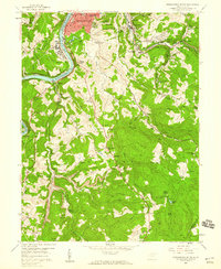 Download a high-resolution, GPS-compatible USGS topo map for Morgantown South, WV (1959 edition)