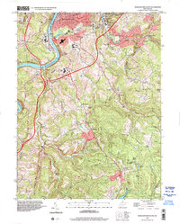 Download a high-resolution, GPS-compatible USGS topo map for Morgantown South, WV (2001 edition)