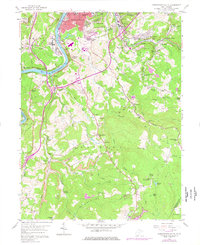 Download a high-resolution, GPS-compatible USGS topo map for Morgantown South, WV (1977 edition)