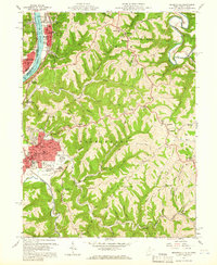 Download a high-resolution, GPS-compatible USGS topo map for Moundsville, WV (1966 edition)