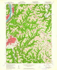 Download a high-resolution, GPS-compatible USGS topo map for Moundsville, WV (1961 edition)