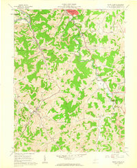 Download a high-resolution, GPS-compatible USGS topo map for Mount Clare, WV (1962 edition)